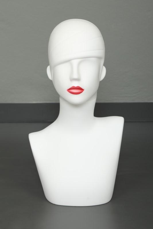 Rose Makyajlı Büst Manken
