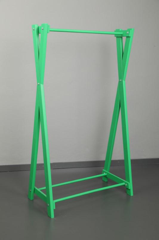 Dekoratif Ahşap Yeşil Askılık