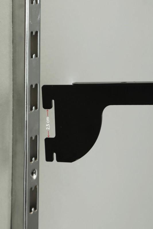 30 cm Tırnaklı Düz Büküm Beyaz Destek