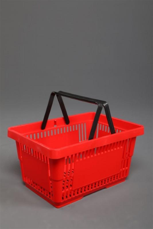 Market Plastik El Sepeti (Siyah, Kırmızı, Turuncu, Mavi)