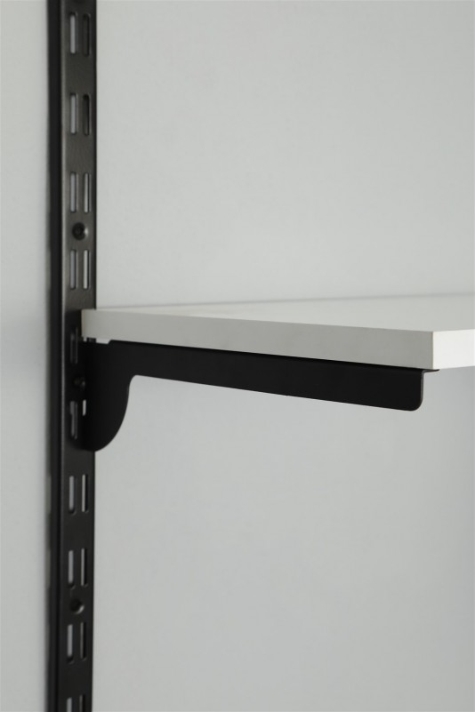 30 cm Tırnaklı Düz büküm Siyah Destek